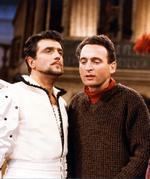 Als Regisseur der ersten Fernsehfarbproduktion  des WDR, »Der Ritter vom Mirakel« von Lope de Vega, mit Michael Degen (1965, WDR-Bavaria)