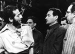 Während einer Live-Produktion zu  Max Frisch »Santa Cruz« für das Fernsehen mit Pinkas Braun (WDR, 1961)